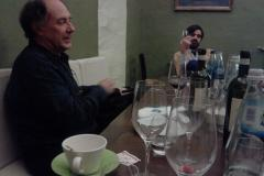 The Mdina Biennale Team dines with participating French Artist Denis Pondruel 2