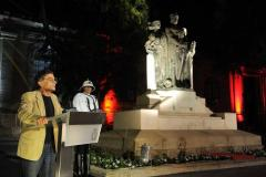 Artistic Director Giuseppe Schembri Bonaci delivering the Victory Day speech
