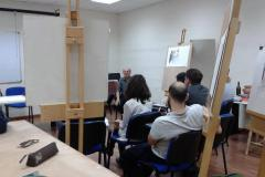Wally Caruana talks to the MA in Fine Arts students